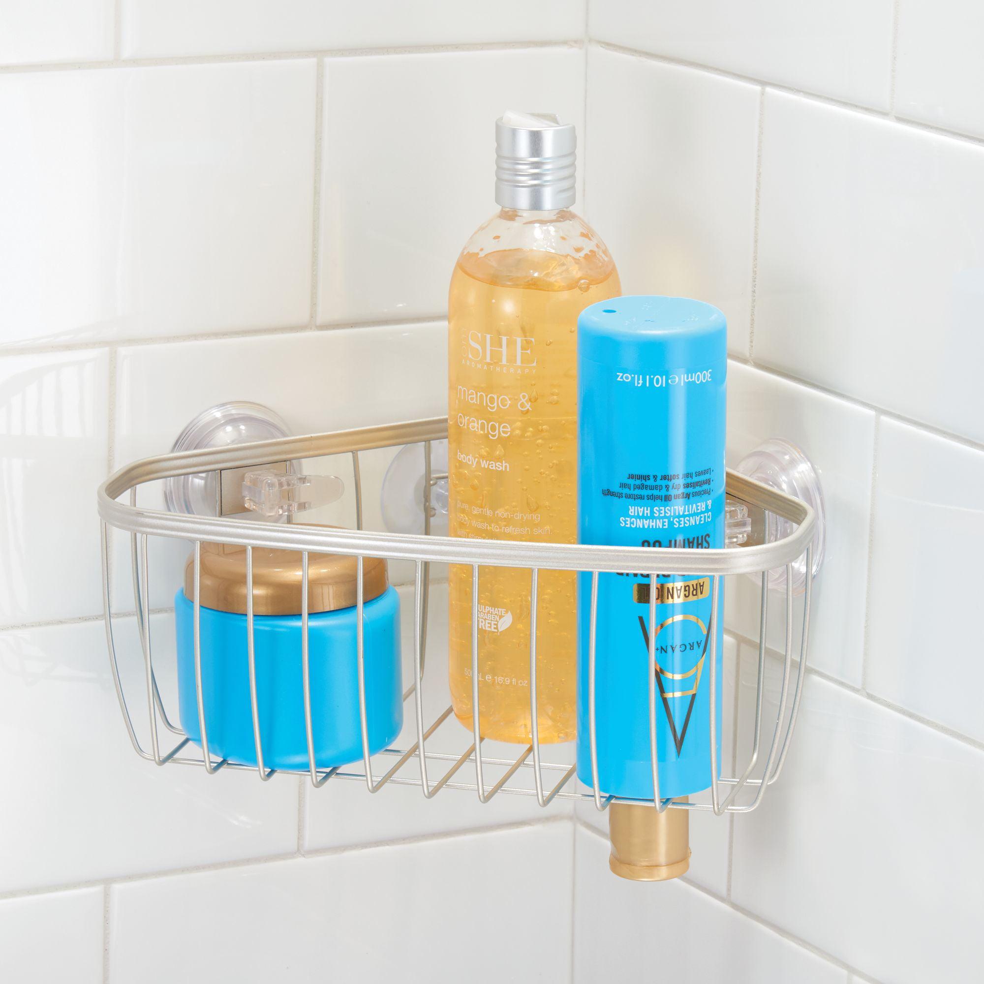 Better Homes & Gardens Satin Suction Corner Shower Basket - Walmart.com