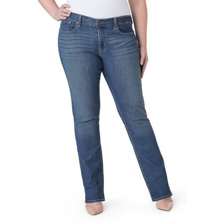 Signature by Levi Strauss; Co.; Women's Plus Modern Straight Jeans