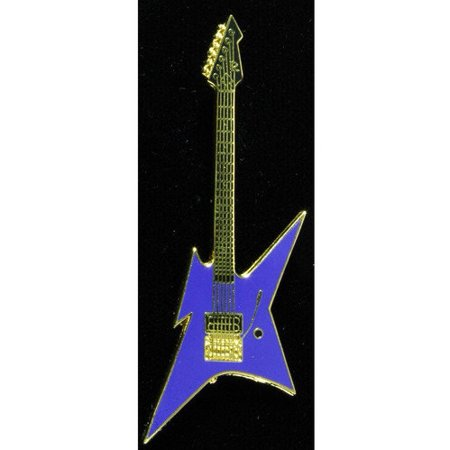 Harmony Jewelry BC Rich Ironbird Electric Guitar in Gold and Blue Bc Rich Warlock Electric Guitar