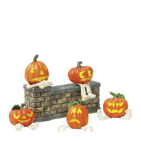 Department 56 Snow Village Halloween 800029 Pumpkin Heads Accessory (Pumpkin Head Halloween Dance)