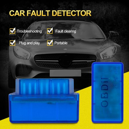 Mini V2.1 ELM327 OBD2 Code Reader Scan Tool Bluetooth Interface Car Scanner Diagnostic-Tool OBDII OBD 2 for Android - image 1 de 2