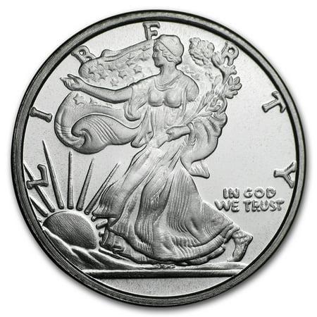 1/4 oz Silver Round - Walking Liberty