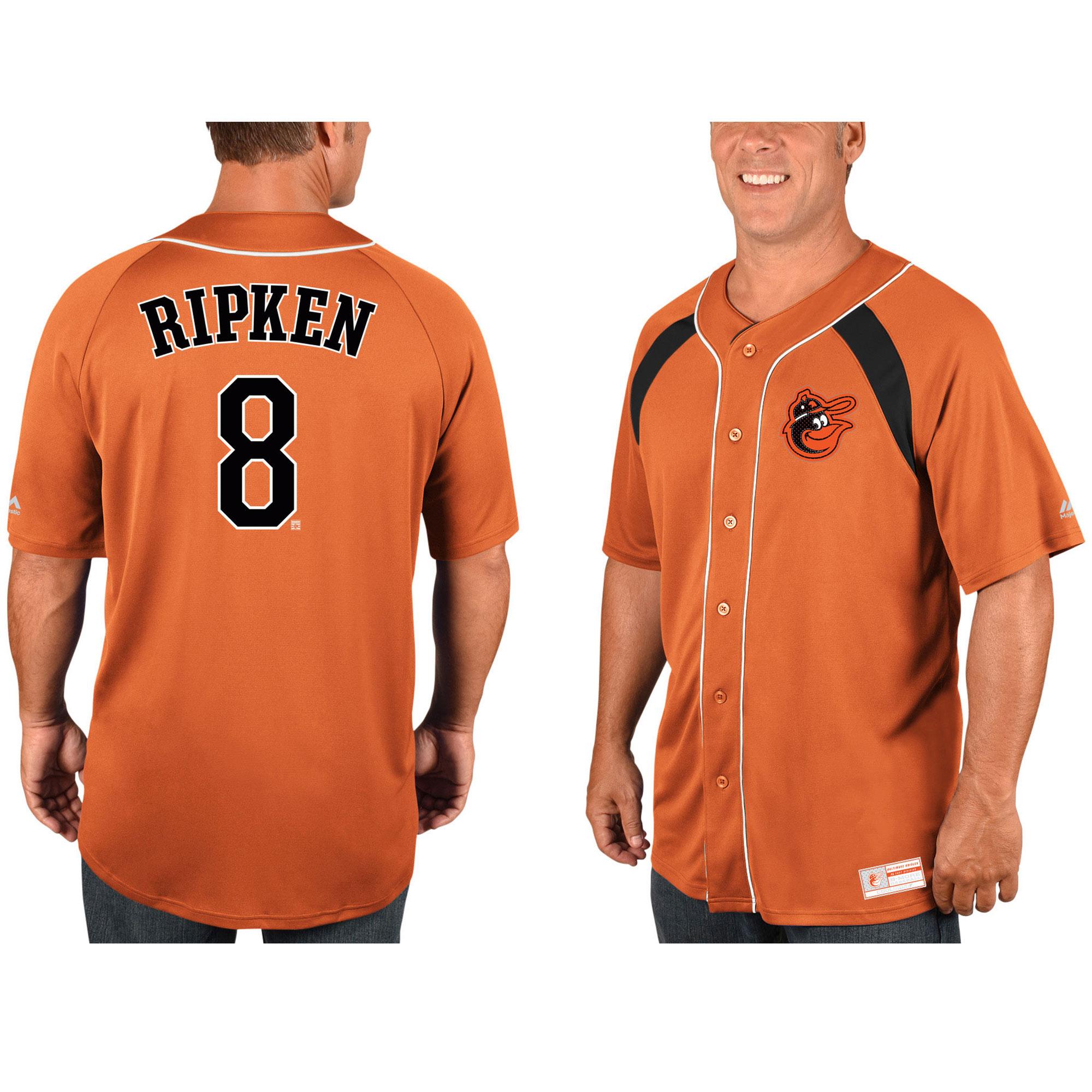Cal Ripken Jr. Baltimore Orioles Majestic Cooperstown Collection Peak Power Cool Base Fashion Player Jersey - Orange/Black