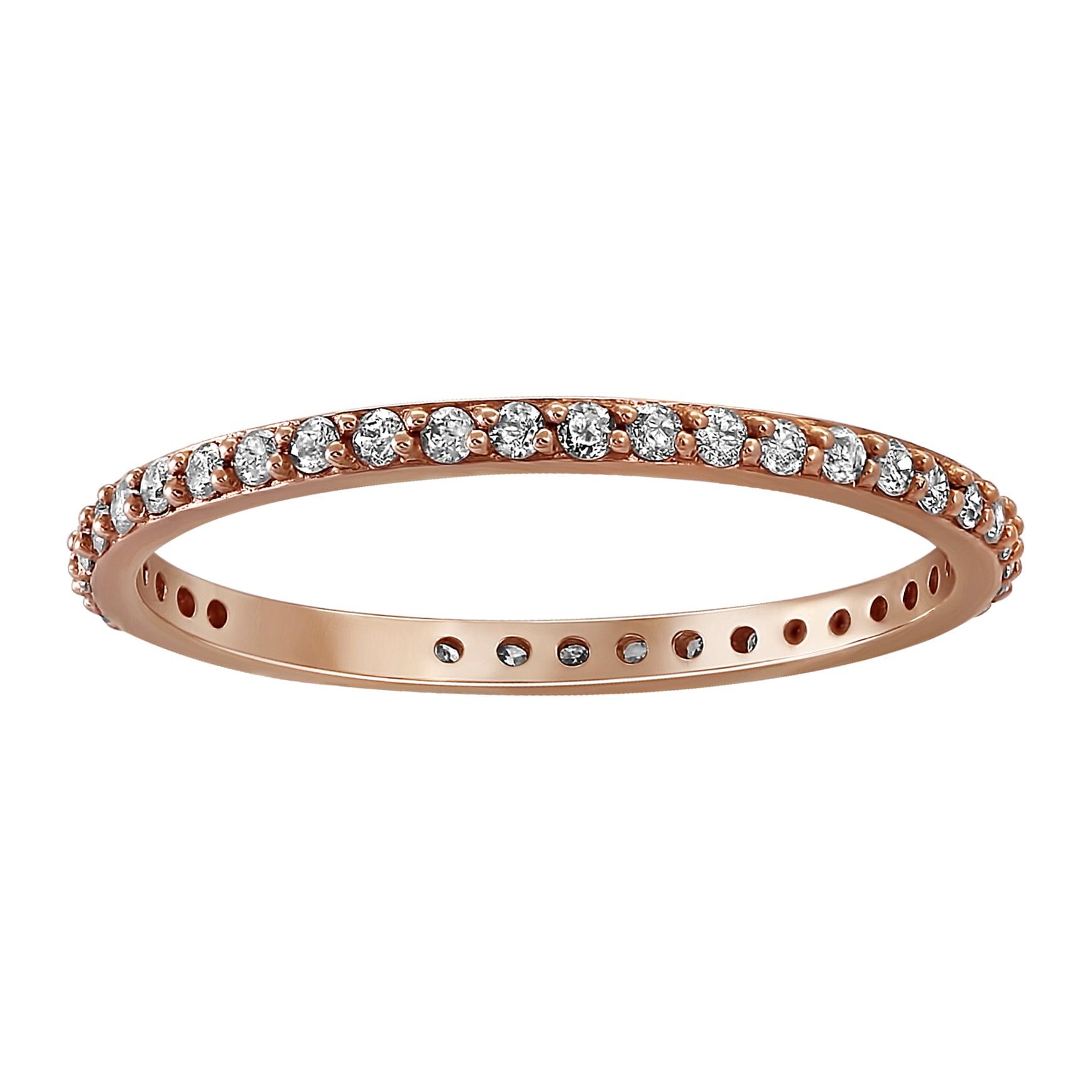 1/3 carat Diamond Eternity Band Ring in 14K Pink Gold