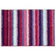 """Mainstays Your Zone Striped Shag Pink Multi Colored 3'8""""x2'6"""" Indoor Area Rug"""