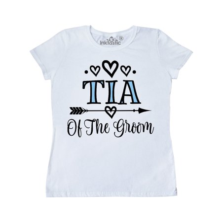 Tia Of The Groom Wedding Aunt Women's T-Shirt](Aunt Viv Halloween)