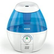 Vicks Mini Filter-Free Cool Mist Humidifier, White, VUL520W