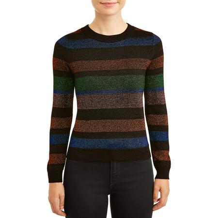 Lurex Stripe Sweater - Women's Lurex Sweater