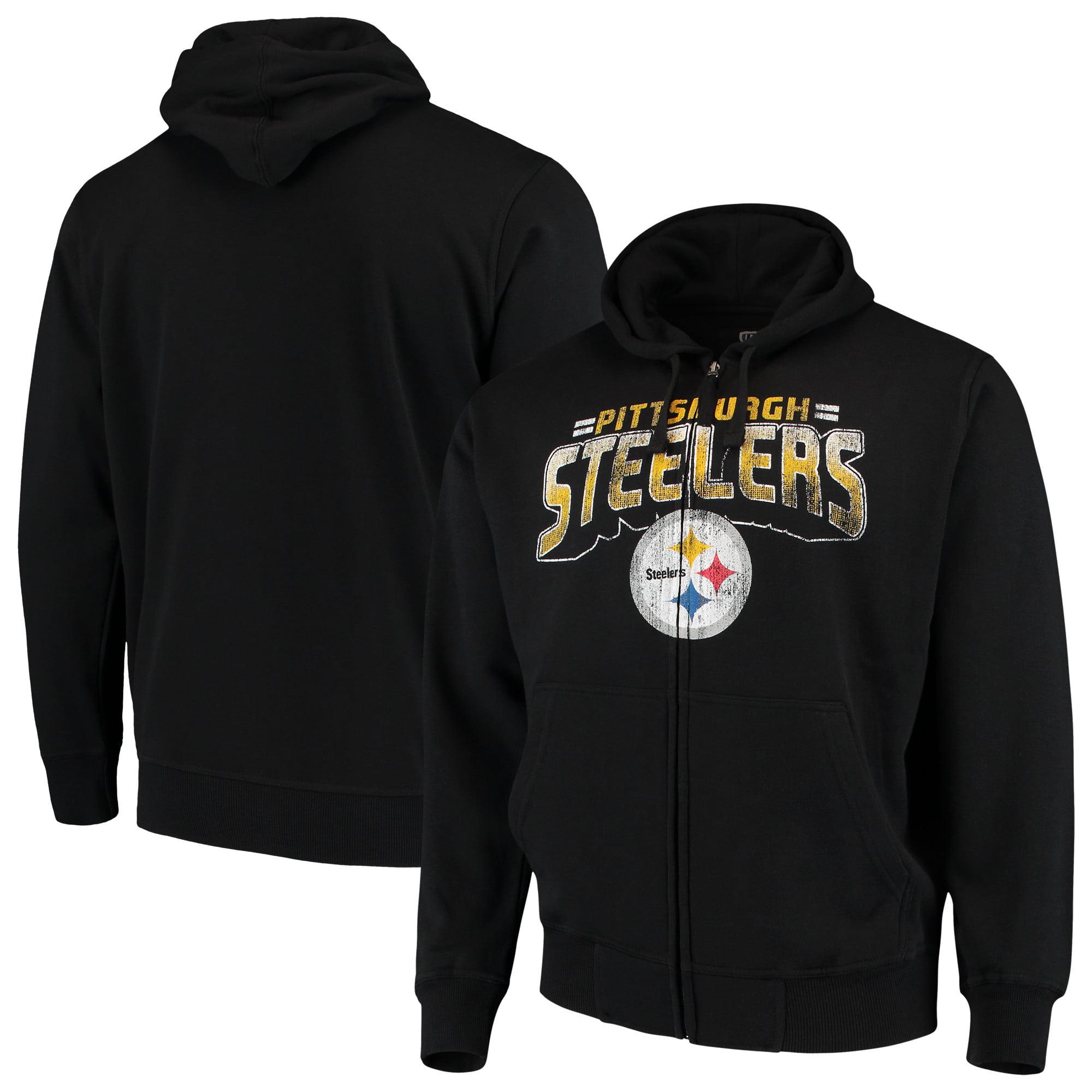 Pittsburgh Steelers G-III Sports by Carl Banks Perfect Season Full-Zip Hoodie - Black