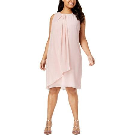 Embellished Dresses Clearance (SLNY Womens Plus Sleeveless Embellished Cocktail)