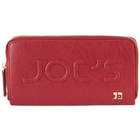 Joe's Jeans Monogram Zip Around Wallet - Red
