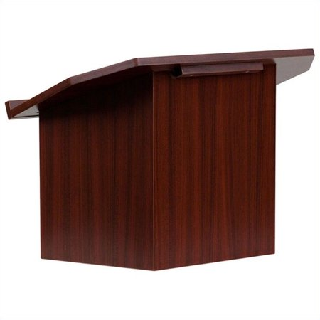 Flash Furniture Foldable Mahogany Tabletop - Acrylic Tabletop Lectern