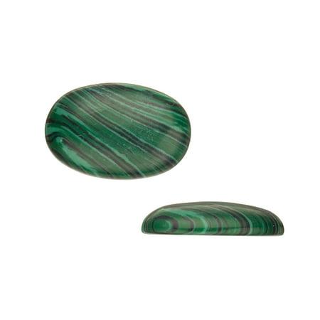 Oval Dome Semi-Precious Cabochon Stones Malachite 20x30mm Beading Supply