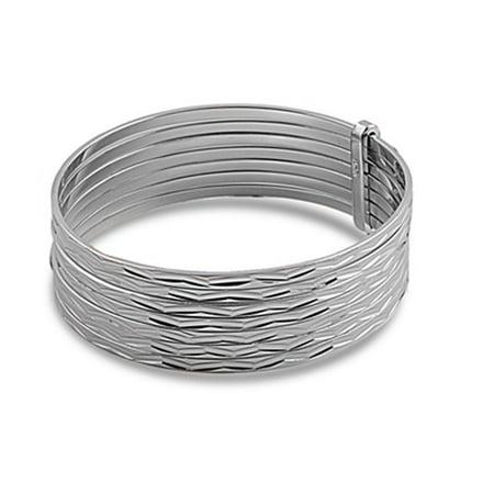 Slip-On Bangle 7-day Set Bracelet .925 Sterling - 7 Day Bracelet