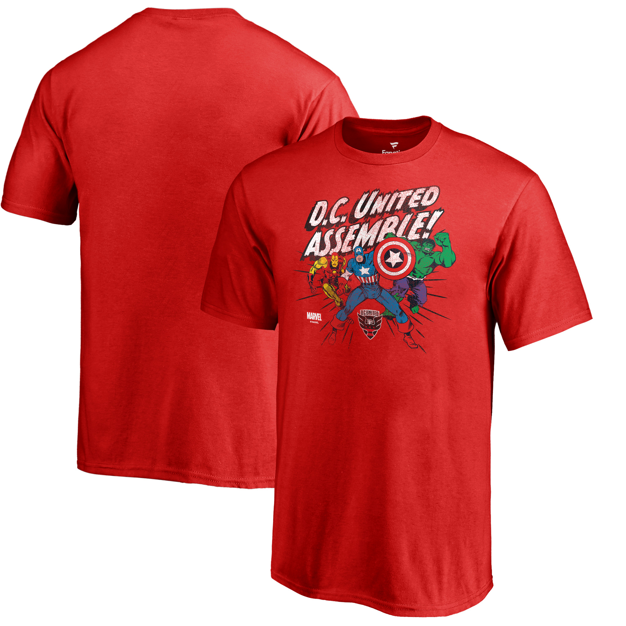 D.C. United Fanatics Branded Youth Marvel Avengers Assemble T-Shirt - Red