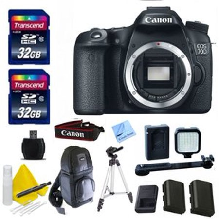 Canon Black Eos 70D Digital Slr Camera With 20 2 Megapixels  Body Only
