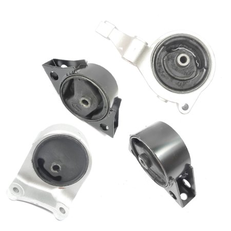 M032 6342 6345 6346 6343 For 93-01 Nissan Altima 2.4L Right & Front & Rear & Transmission Set 4 Engine Motor Mount 93 94 95 96 97 98 99 00 01 97 Nissan Altima Carbon
