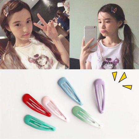 Brand New Korean Version Cute Side Folder Clip Hairpin Girls Barrettes Hair Clip Clamp - image 6 de 6