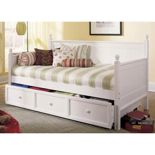 Casey White Twin Day Bed w  Trundle by Overstock