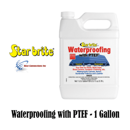 Star Brite 81900 Fabric Waterproofing w/ PTEF 1 Gallon Tent Boat Top (Best Fabric Cleaner For Car Seats)