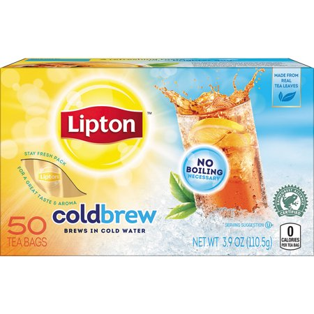 Lipton Cold Brew Black Iced Tea Bags 50 ct