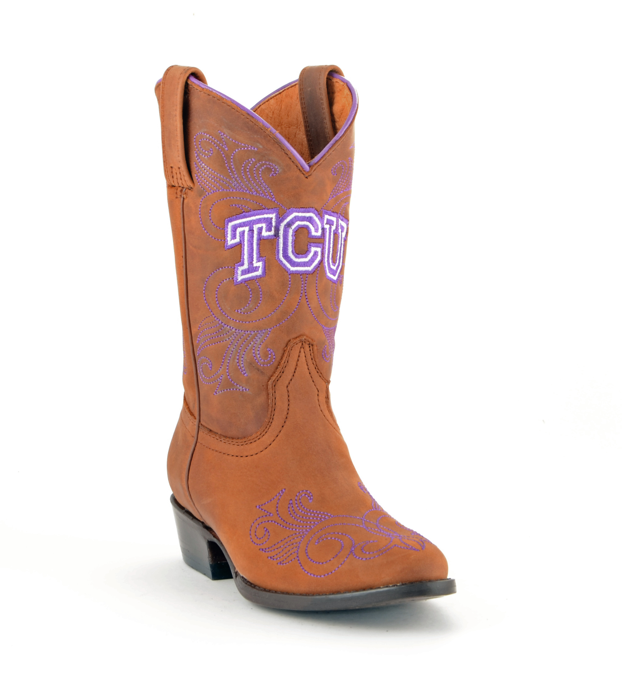 Gameday NEW Girls Leather Texas Christian Western Cowboy Boots