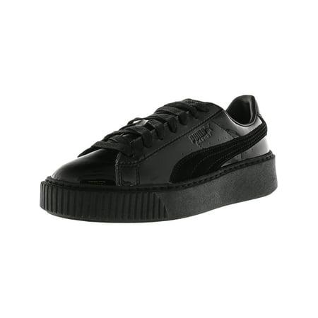 sale retailer 785ba a9e73 Puma Women's Basket Platform Patent Black / Ankle-High Fashion Sneaker -  8.5M