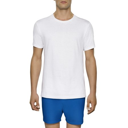 Tall Men's Collection White Crews Extended Sizes up to 3XLT,