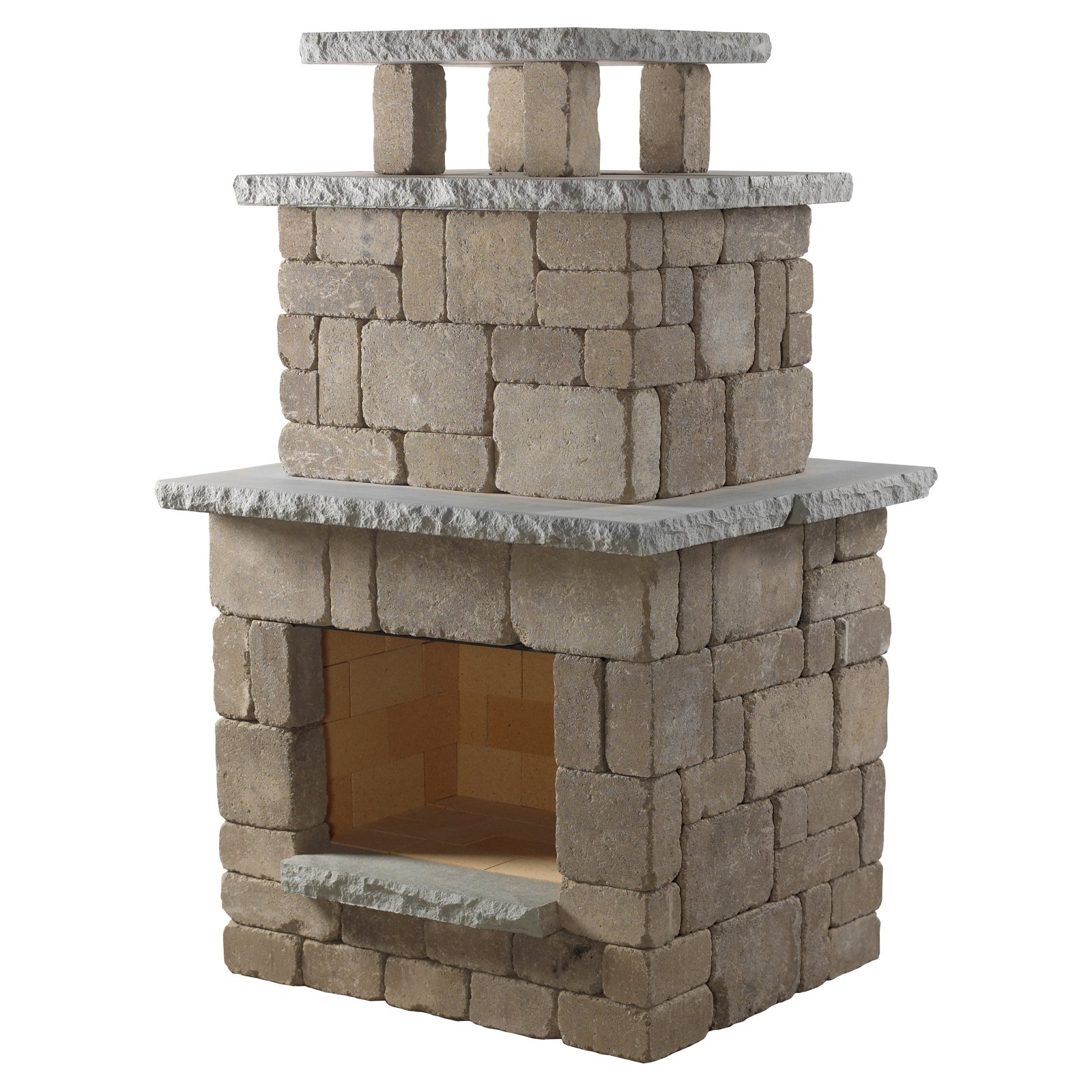 Necessories Compact Outdoor Fireplace by Rochester Concrete Products LLC