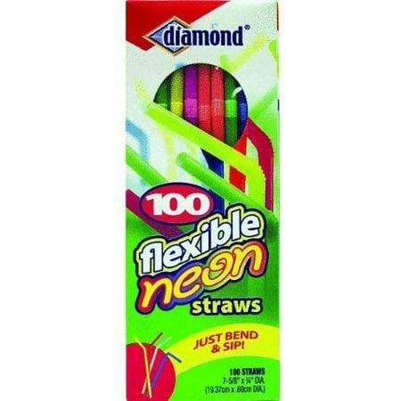 100CT Flex Neon Straws