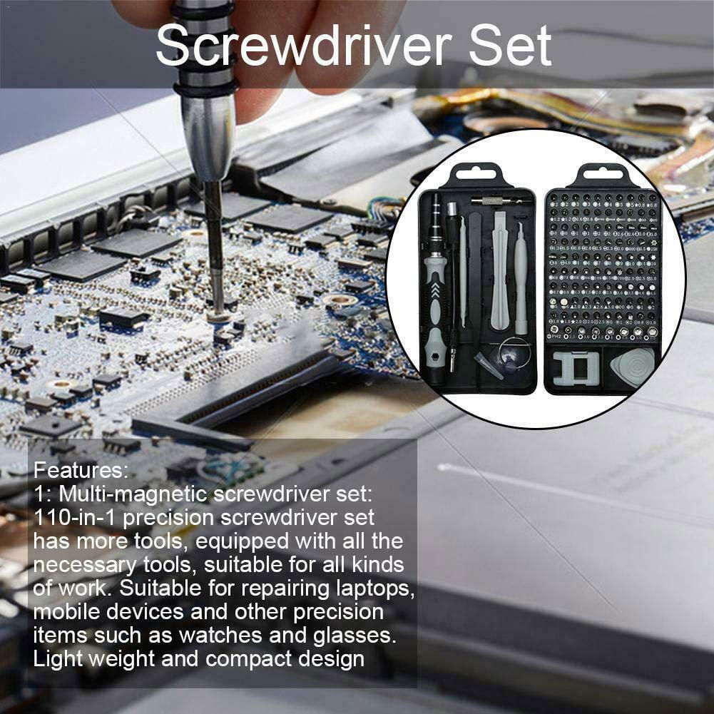 Telecommunications Repair Tool Drive Kit with Flexible Shaft for Smartphone//Tablet//Notebook//Xbox//tab Tuscom 115 in 1 Flexible Precision Torx Screw Driver Set Repair Phone Laptop Tools Kit
