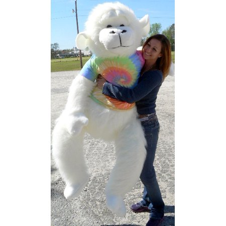 American Made Giant Stuffed White Gorilla 6 Foot Soft Big