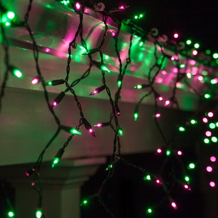 Kringle Traditions 150 Purple/Green Mini Icicle Light String for $<!---->
