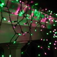 Kringle Traditions 150 Purple/Green Mini Icicle Light String