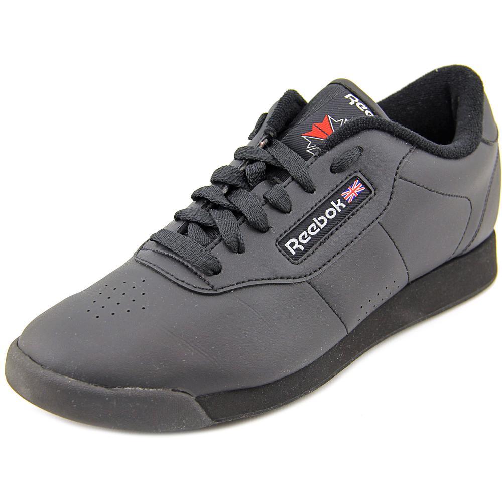 reebok princess toe leather athletic sneakers