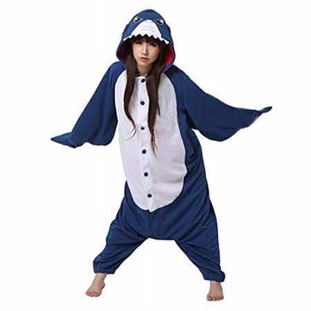 LanLan Cosplay Outfit Anime Pokemon Pikachu Romper Pajamas Costume (x-large, Shark)Size XL - Cosplay Outfit