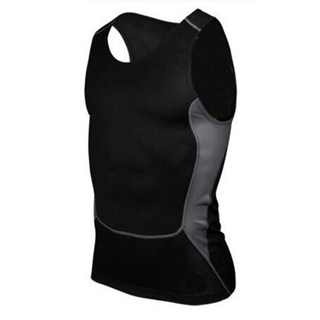 EFINNY Mens Compression Base Layer Sleeveless Sports Fitness Tight Shirts