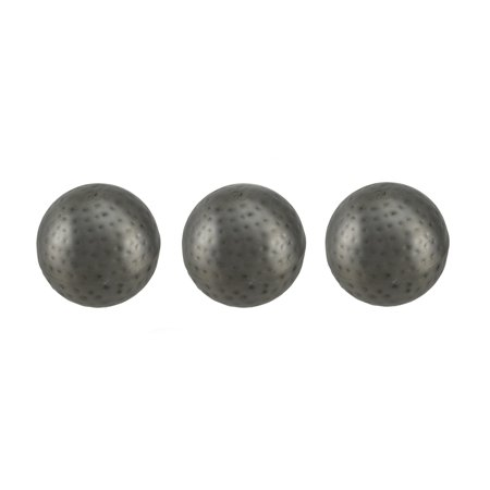 Silver Balls Decor (3 Piece Antique Silver Finish Dimpled Metal Decor Ball Set 4)