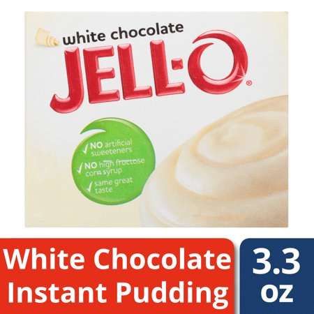(4 Pack) Jell-O Instant White Chocolate Pudding & Pie Filling, 3.3 oz (Jello Instant Pudding Pie Directions 5-9 Oz)