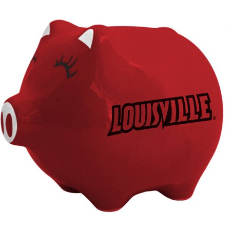 NCAA Louisville Cardinals Ceramic Piggy Bank