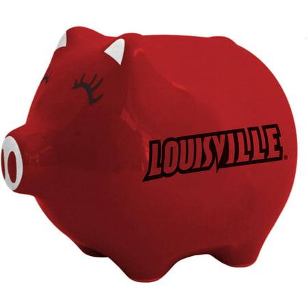 NCAA Louisville Cardinals Ceramic Piggy Bank