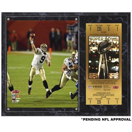 finest selection b22a1 0a4a6 Drew Brees New Orleans Saints Super Bowl XLIV Sublimated 12