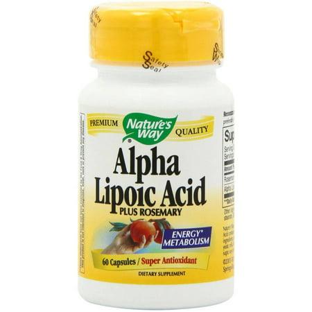 Nature's Way Antioxydants Acide alpha-lipoïque, 60 CT
