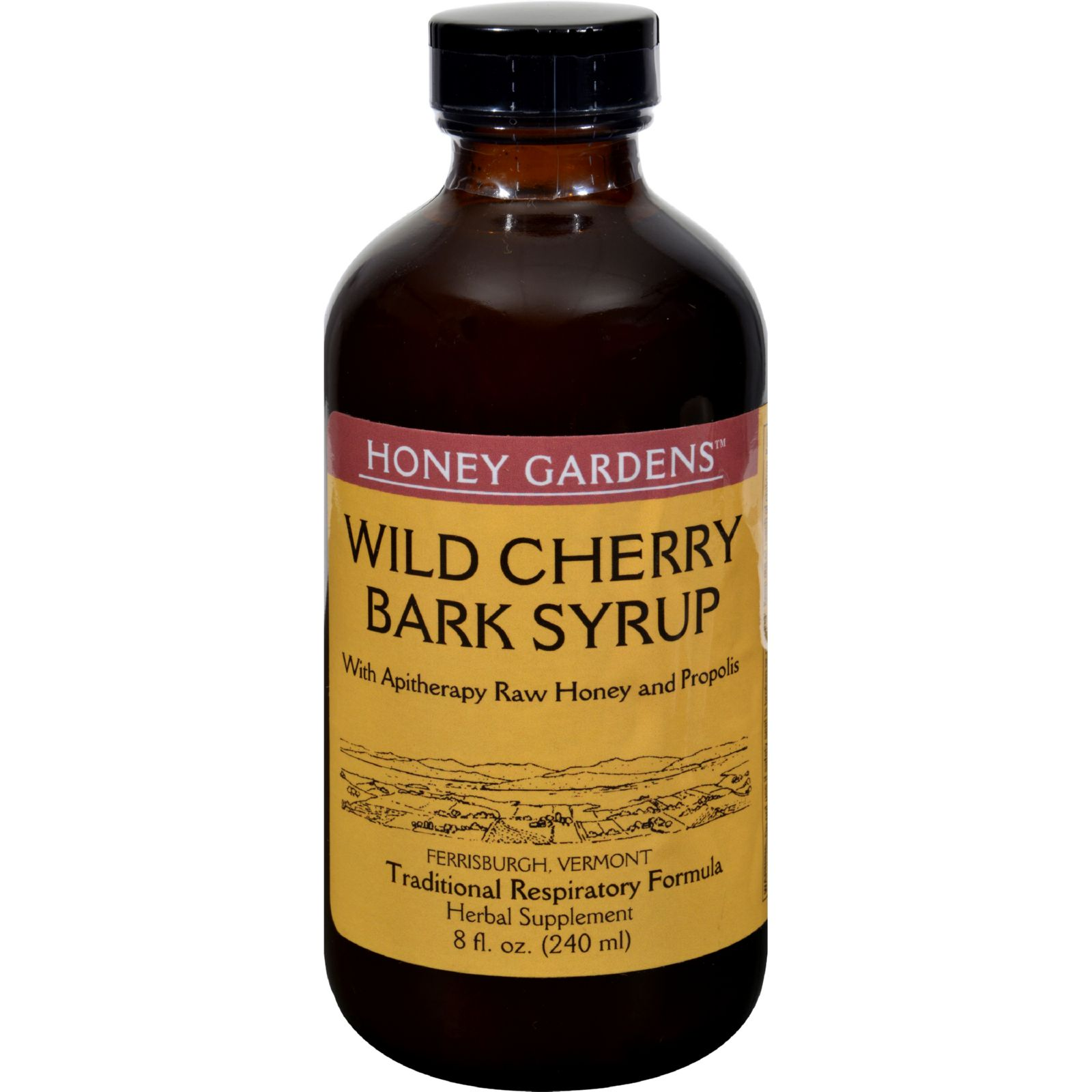 Honey Gardens Apiaries Honey Wild Cherry Bark Syrup - 8 fl oz