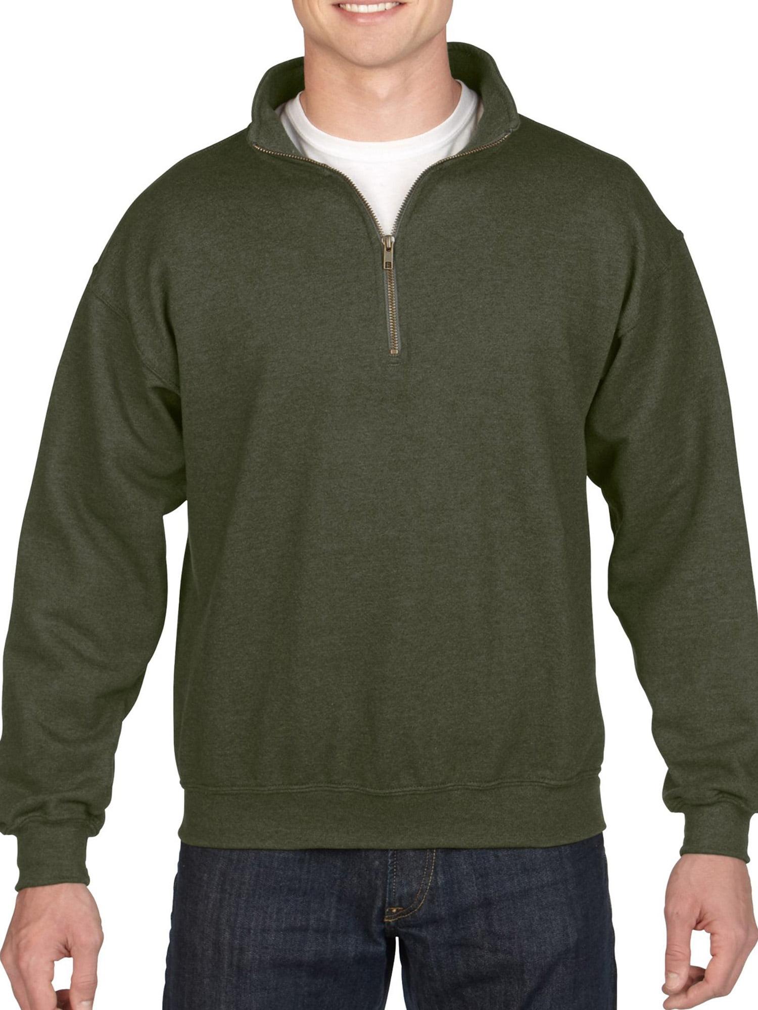 poriff Mens Micro Fleece Pullover Sweater Quarter Zip Cadet Collar Sweatshirt