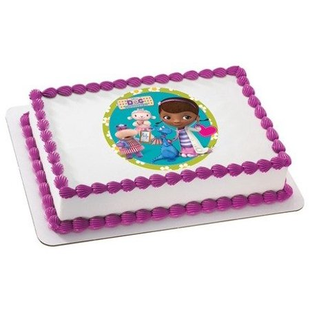 Doc McStuffins 1/4 Sheet Image Cake Topper Edible Birthday Party (Dr Mcstuffins Cake)
