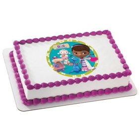 Marvelous Special Order Cake Decoration Doc Mcstuffins Doc And Lambie Personalised Birthday Cards Bromeletsinfo