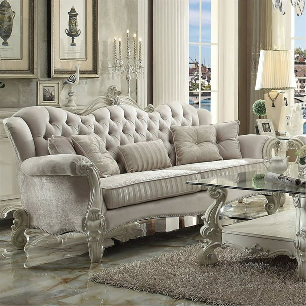 Acme Versailles Sofa With 5 Pillows In