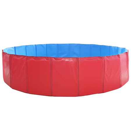 GPCT [63 INCH] Foldable/Portable [Collapsible] Large Dog Pet Bathing  Swimming Pool. Durable, Heavy Duty, Bathing Bath Tub Wash Pond Water Washer  For ...