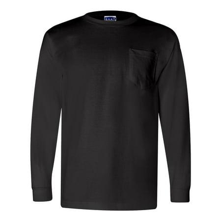 Bayside Union-Made Long Sleeve T-Shirt with a Pocket